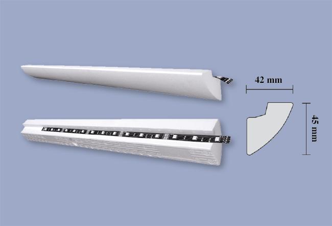 Cornice led soffitto for Cornici per soffitto
